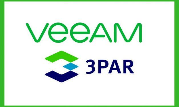 Veeam  – HPE 3PAR 3.3.1 – Failed to check fingerprint