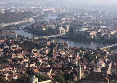 view to Prague city